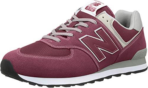 New balance 574v2 core', sneaker uomo, sintetico, rosso (burgundy), 45 eu