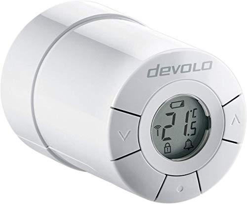 devolo Home Control Heizkörperthermostat (Funk Heizungssteuerung, Smarthome Thermostat, Z-Wave Hausautomation, Haussteuerung per iOS/Android App, Smart Home Aktor, einfache Installation) weiß