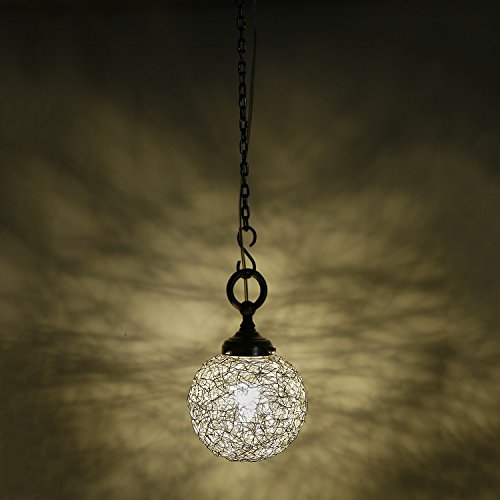 Small Exclusive Silver Modern and Decorative Hanging Lamp