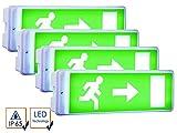 ELRO 4er-Set LED Notbeleuchtung inkl. Ersatzbatterie u. 4 Richtungsaufkleber