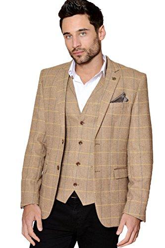 Marc-Darcy-Mens-Designer-2-Piece-Herringbone-Tweed-Blazer-Jacket