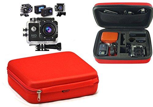Preisvergleich Produktbild Navitech Rot Tragetasche für Vikeepro Action Cam,  2, 0 Zoll Full HD 1080p