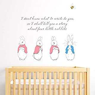 Beautiful Game Official Peter Rabbit I Shall Tell You A Story Wall Sticker Mural PB020 (90cm Width x 82.5cm Height)