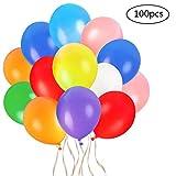 Faburo 100x Bunte Luftballons Dekoration Ballons für Festival Party aus Latex