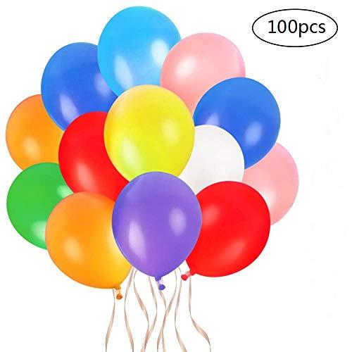 Faburo 100pcs Bunte Luftballons Latex Partyballon Dekoration Ballons für Geburtstag Party Hochzeit