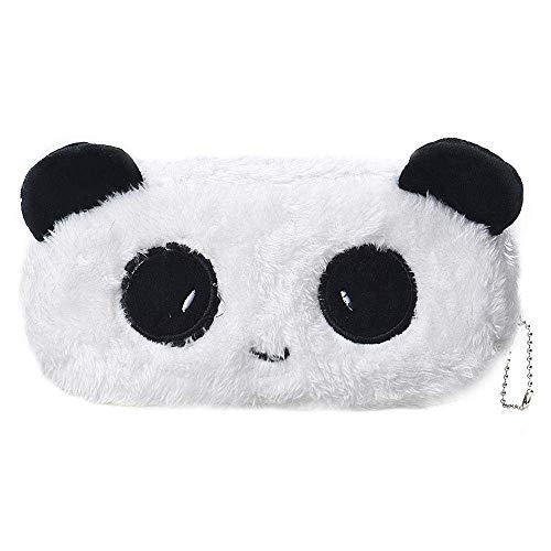 24x7 eMall Fur Panda Pencil Pouch Soft Toys for Children, Kids Favorite Pencil Box (Panda Fur)