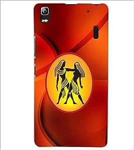 PrintDhaba Zodiac Gemini D-3371 Back Case Cover for LENOVO A7000 PLUS (Multi-Coloured)
