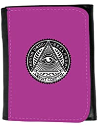 Small Faux Leather Wallet // Q07520621 all seeing eye 1 Byzantine // Small Size Wallet