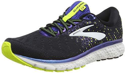 Brooks Glycerin 17, Zapatillas para Correr para Hombre, Black/Blue/Nightlife, 41 EU