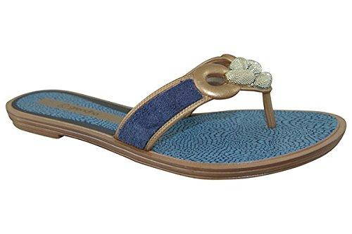 Grendha  Exotic Thong Flip,  Infradito Donna, blu, FR:38