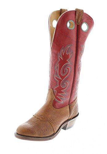 Boulet 9117 Braun Herren Buckaroo Westernreitstiefel (Boots Boulet Männer Western)
