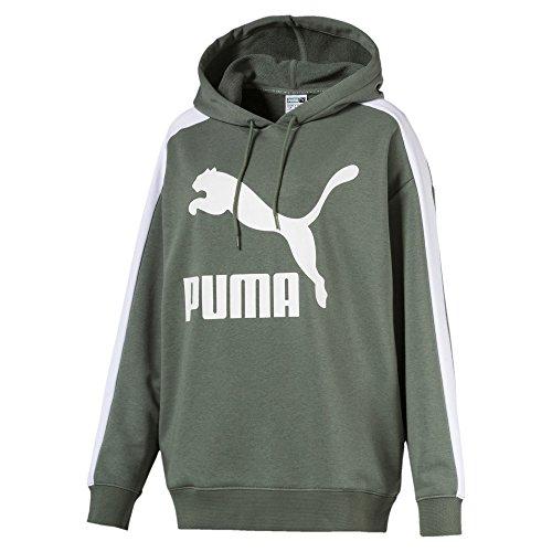 Puma Damen Classics Logo T7 Hoody Sweatshirt, Laurel Wreath, XL -