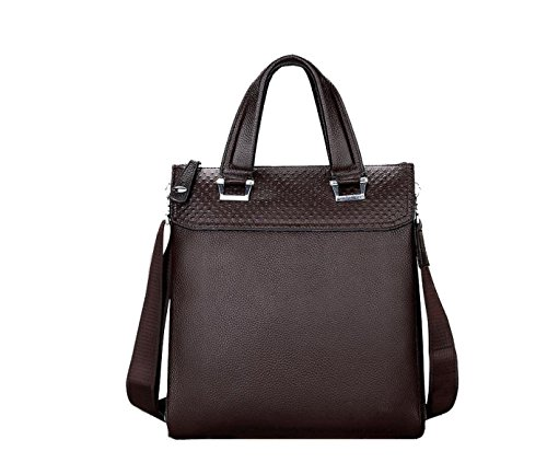 Yy.f Casual Moda Borsa In Pelle In Inghilterra Borsa A Tracolla Diagonale Portatile Business Laptop Brown