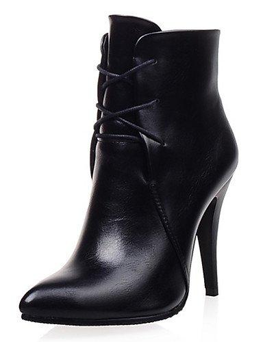 CU@EY Da donna-Stivaletti-Ufficio e lavoro / Formale / Casual-Stivaletto / Stivali-A stiletto-Finta pelle-Nero / Marrone / Rosso black-us10.5 / eu42 / uk8.5 / cn43