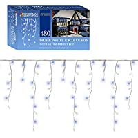 Christmas Workshop 77530 480 LED Icicle Chaser Lights - Blue/White