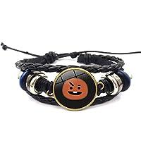 AILIENT Kpop BTS Bangtan Boys Alloy Wristband Bracelet Glass GemstoneHot Gift for A.R.M.Y (Color : H07, Size : -)