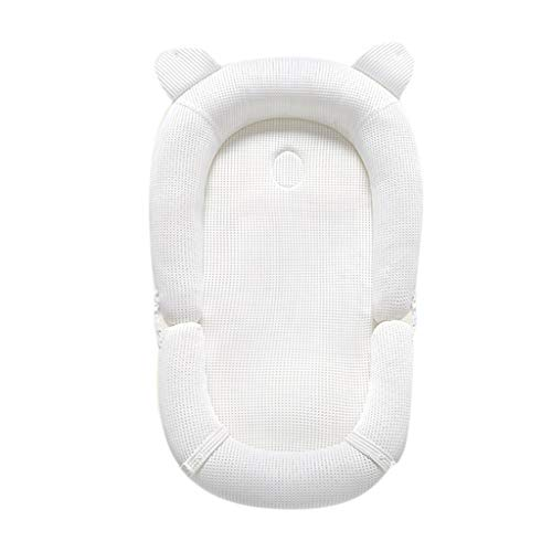 Réducteur de Lit Babynest Berceau bébé Blanc, Berceau Nouveau-né portatif très Doux et Respirant, Couvercle Amovible résistant à l'eau pour Un lit Pliant Nouveau-né