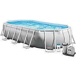 INTEX Kit piscine Prism Frame ovale 5.03 x 2.74 x 1.22 m
