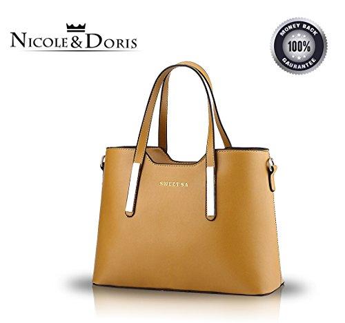 Nicole&Doris 2017 nuove donne stereotipi portafoglio borsa tracolla Messenger(Black) Khaki