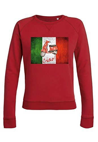 ul9 Sweat pour femmes Trips Vespa Italy red