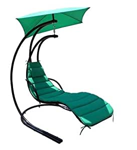 Horizon DELUXE GARDEN OUTDOOR HELICOPTER DREAM CHAIR SWING HAMMOCK SUN LOUNGER SEAT IN BLACK OR BEIGE (Black)