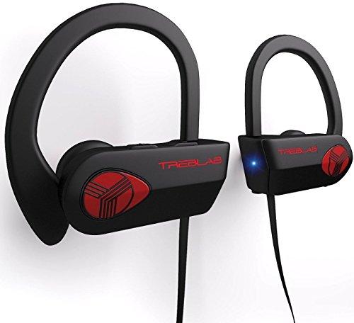 TREBLAB XR500 Auriculares con Bluetooth. Los mejores auriculares inalámbricos para hacer deporte IPX7 impermeable, y a prueba de sudor. Audífonos...