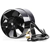 Black Orchid BO-AF-100-UK 100 mm 4-Inch Diameter Axial Flo In Line Horticultural Extractor Fan - Black