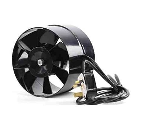 Black Orchid BO-AF-100-UK 100 mm 4-Inch Diameter Axial Flo In Line Horticultural Extractor Fan -