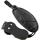 "Brain Freezer J Leather Padded Camera Wrist Strap Adjustable with 1/4"" Screw Mount for DSLR SLR Camera (Black)"