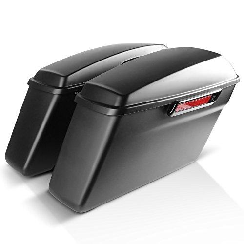 Maletas laterales para Harley Davidson CVO Electra Glide Ultra Limited 14-17 negro mate