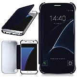 moex Samsung Galaxy S7 | Hülle Transparent TPU Void Cover Dünne Schutzhülle Blau Handyhülle für Samsung Galaxy S7 Case Ultra-Slim Handy-Tasche mit Sicht-Fenster