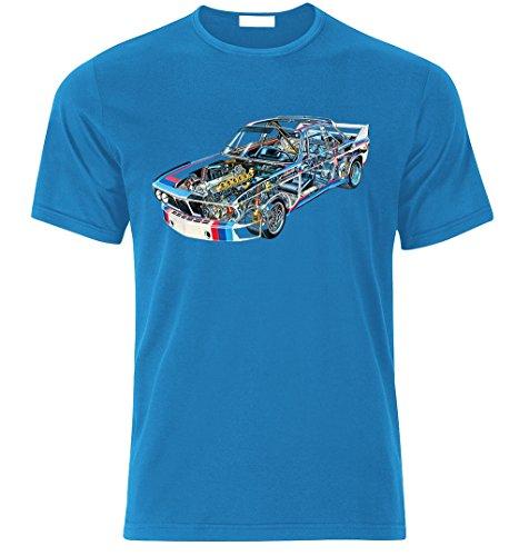 Fan Best Car Auto Fan Tuning Speed Race T-Shirt Size S-XXL (L, Azure BLAU)
