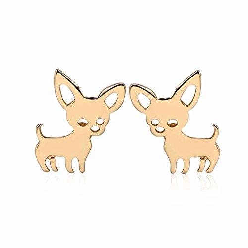 Arichtops Frauen Kleine Chihuahua Ohrringe Weiblichen Haustier Hund Ohrstecker Mädchen Legierung Tier Ohrstecker