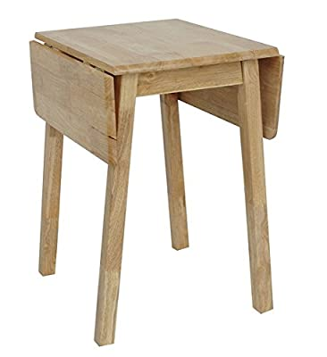 Natural Light Wood Compact Small Drop Leaf Table for Kitchen or Dining Room - cheap UK light store.