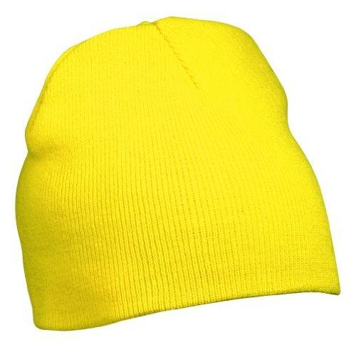 Myrtle Beach Strick Beanie Nr.1 MB7580, Farbe:Yellow;Größe:One Size