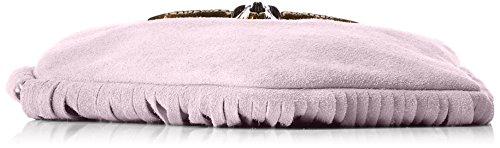 Chicca Borse Damen 1518 Schultertasche, 21x24x2 cm Rosa (Pink)