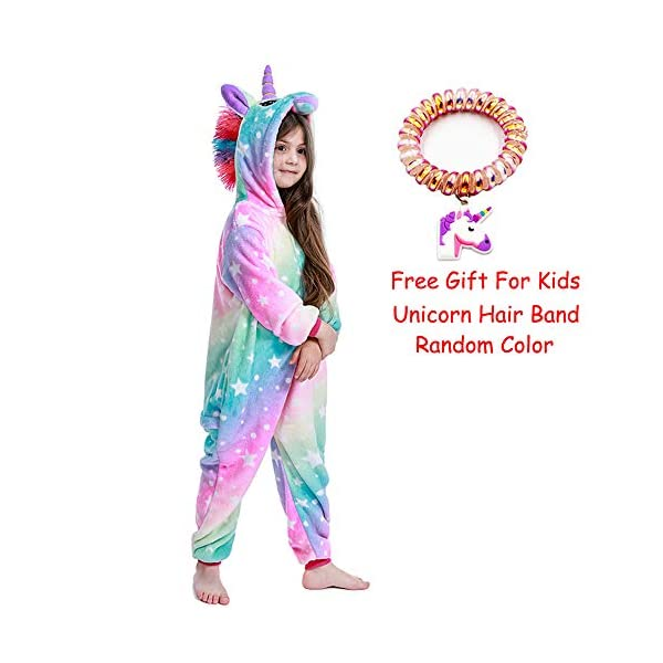 LANTOP - Pijama mono de unicornio para niñas, ideal como regalo de Navidad o Halloween, o como disfraz de cosplay 2