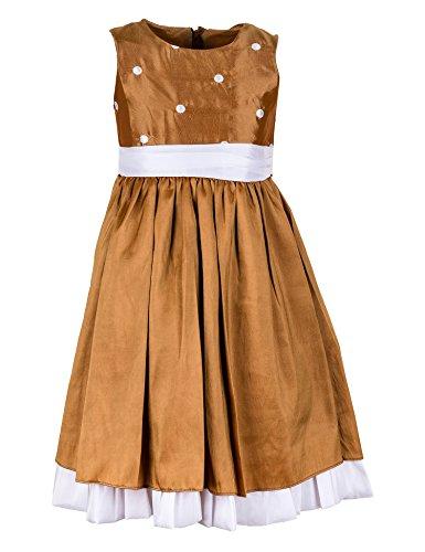 Festliches Mädchen Kleid Kinder für Hochzeit Festkleid Blumenmädchen M285M1go Gold 92