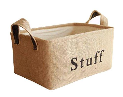 ale Baumwoll Leinen Wäschesammler Wäschebox Faltbare Wäschekörbe Kinder Spielzeug Aufbewahrungskorb Stoffkorb Aufbewahrungsbox 37*25*20CM (M) (Shop Lagerplätze)