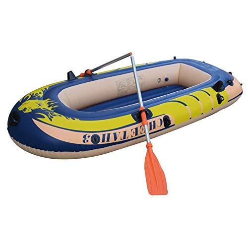 Kayak barco inflable grueso resistente al desgaste del barco de pesca rápido de viaje en canoa persona bote inflable Conjunto...