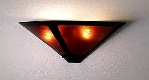Meyda Tiffany 67968 Amber Mica Dirk Van Erp Craftsman / Mission Wall Washer Sconce From The Dirk Van