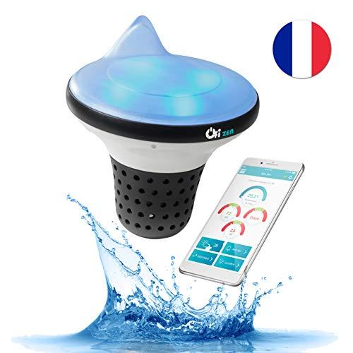 Ofi Zen Pool-Analyzer mit Smartphone-Alarm - überwacht die Qualität Ihres Wassers 24/7 - Sonde Analyse Chlor pH Temperatur kabellos (Alarm-zen)