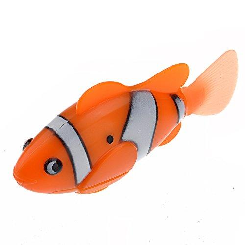 r aktivierte lebensechte elektronische Mini Roboter Fische schwimmen Fische Spielzeug für KinderChildren (Orange) (Roboter-fisch)