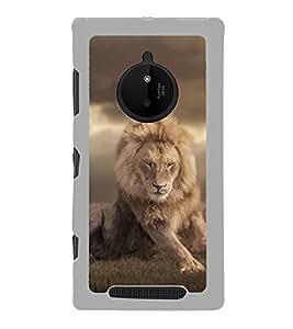 PrintVisa King Lion Panther High Glossy Metal Designer Back Case Cover for Microsoft Lumia 830 :: Nokia Lumia 830