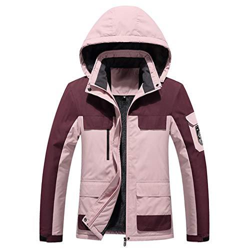 ITISME Damen 3-in-1-Jacke mit Fester Kapuze|Wasserdicht | Fleecejacke Damen|Winterjacke Damen