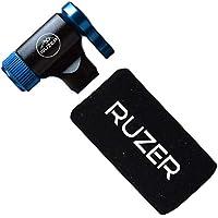 RUZER© Inflador rápido y fácil Presta & Schrader válvula Compatible para Bicicleta Bomba 12 g, 16 g, 20 g y 25 g