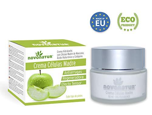 Crema facial antiarrugas de Colágeno hidrolizado, Células Madre de Manzana y Citoquinas, Ácido Hialurónico, L-Arginine y extracto de olivo. Reafirma, regenera y tensa la piel.