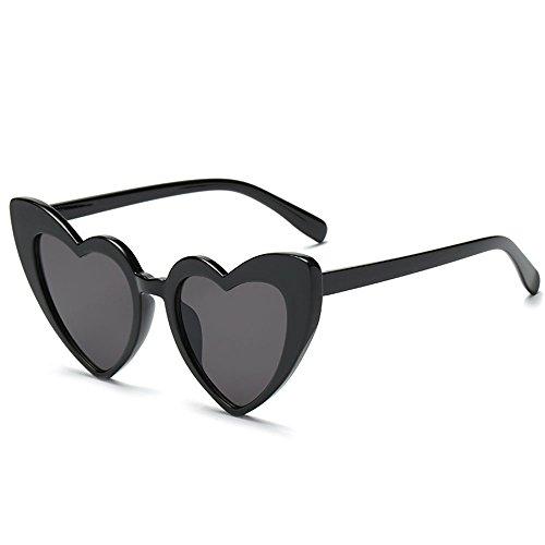 attachmenttou Sonnenbrillen Sonnenbrillen Retro PC-Herz-Form Sommer Augenschutz
