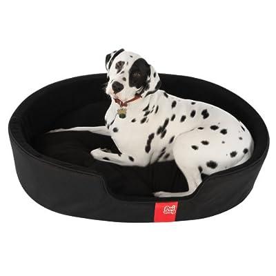 Poi Dog® Luxury Oval Black Dog Bed - Nest Black Dog Beds - Pet Beds