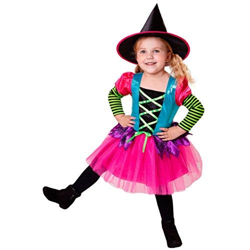 Widmann - Kinderkostüm Hexe (Kostüm Zauberin Mädchen)